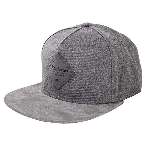 Blackskies Port Angeles Snapback Cap | Damen Herren Baseball Mütze Kappe Kunst-Wildleder Schirm - Grau