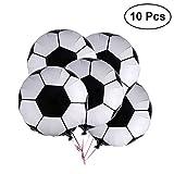 TOYMYTOY 10 Stück 18' Fußball Luftballons Aluminiumfolie Membran Airballoon Geburtstag Party Dekoration