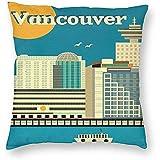DayToy Vintage Travel World Vancouver Skyline Poster 1 Pack