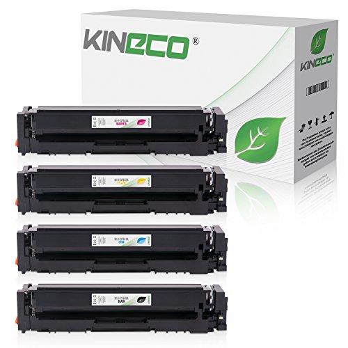 4X Toner von Kineco ersetzt 203A CF540A CF541A CF542A CF543A Multipack für HP Color Laserjet Pro MFP M281fdw M281fdn M281fw M280nw M254w M254dw M254dnw