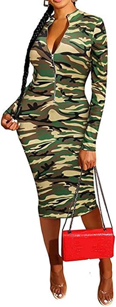 Xuan2Xuan3 2021 spring and summer new Popularity Women's Dresses Fall Long Snake Printed Zipper Sleeve