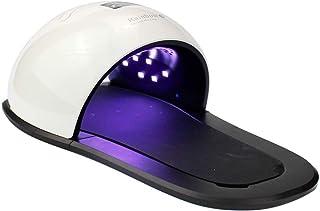 Secador de esmalte de uñas Lámpara de terapia de luz LED Máquina de uñas Máquina de terapia de luz UV Manos y pies 2 en 1 Costura en blanco y negro Zapatillas de 48 W Tipo Lámpara de uñas