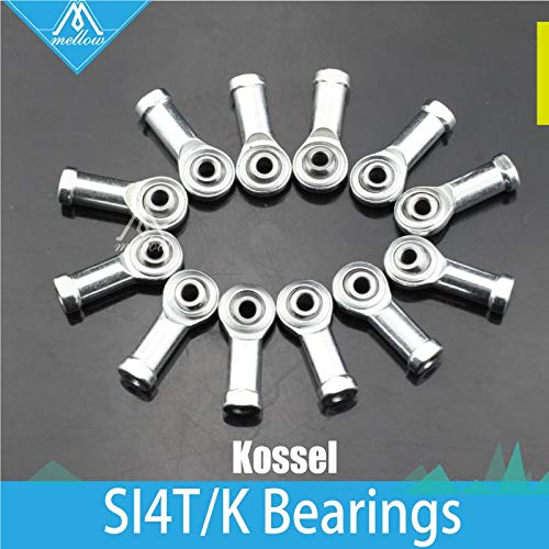 3D Printer - New 12pcs Kossel Mini Rostock Robot Delta 3D Printer Rod Ends Self-lubricating Rod Ends SI4T/K Bearings Spherical Plain Bearings