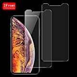 Singularity Products iPhone Xs Max Front Screen Protector [2-Pack], Tempered Glass [3D Touch] Front Anti-Fingerprint/Scratch Compatible with iPhone Xs Max (6.5 inch)