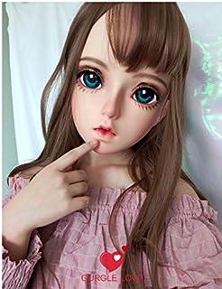 (Mi) 女性の甘い女の子樹脂ハーフヘッド着ぐるみマスクbjdの目のコスプレアニメロリータをマスクとしての役割 Female Half Head Kigurumi Mask