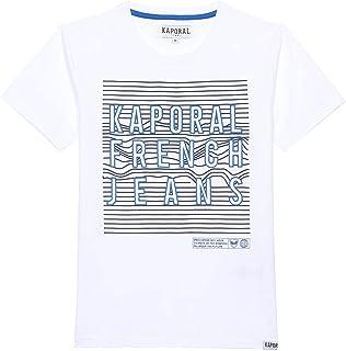 Kaporal - T-Shirt régular garçon imprimé en Relief en 100% Coton Bio - Meal - Garçon