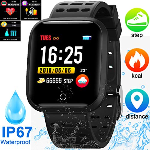 2020 New Upgrade Smart Watches, Fitness Activity Tracker Smart Watch with Heart Rate Blood Pressure Sleep Monitor Waterproof Smartwatches for Android & iOS Best Gift for New Year Birthday Holiday