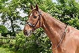 Bianco cavallo equestre Wilson Plain redini da equitazione in pelle pony New Hunt Bridle, Nero , Full