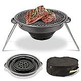 Pliable Barbecue à Charbon Pique Nique Grille de Acier Jardin Camping et Home