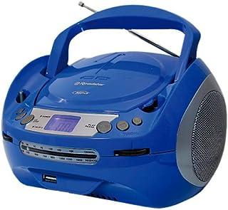 Roadstar CDR-4500U/BL Stereo CD/MP3 Boombox with FM/MW Tuner USB 2.0 Blue