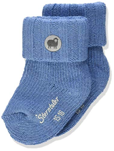 Sterntaler Baby-Mädchen Söckchen Socks, Mittelblau Mel, 16