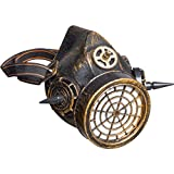 Amakando Maschera Protezionerespiro - bronzato | Steampunk Maschera Antigas | Trucco Vintage Dieselpunk | Mascherina Antigas Ragnarok