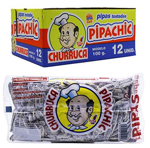 12 x 100g Pipas Tostadas Pipachic Churruca Geröstete Sonnenblumenkerne