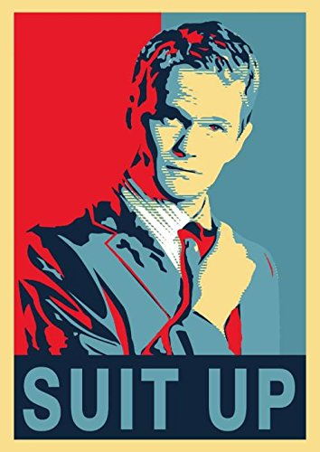Get Motivation - Poster de Barney Stinson con texto en ingles \Suit Up How I Met Your Mother\ (45,7 x 30,5 cm, enrollado)