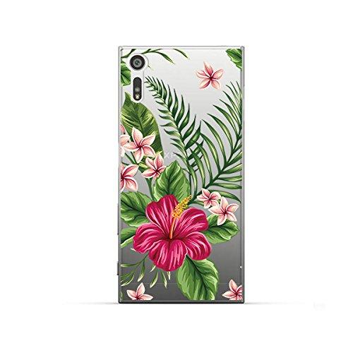 NOVAGO Compatible avec Sony XZ, XZS Coque Souple Transparente et résistante Anti Choc avec Impression de qualité (Bouquet Exotique)