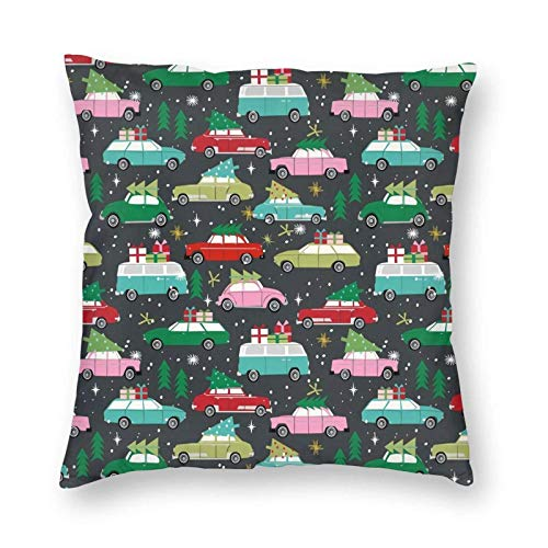 ETGeed Fundas de Almohada navideñas de Cars para sofá Cama, decoración del hogar, 18 x 18 Pulgadas