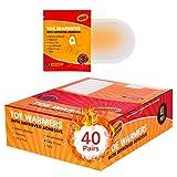 Calentadores de Pies Adhesivo 40 Pares Ultrafinos Mujere y Hombre, 8 Horas de Pies Calientes,...