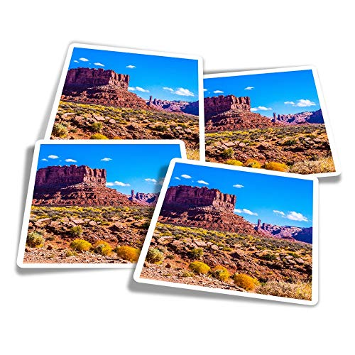 Vinyl Stickers (Set of 4) 10cm - Red Rock Canyon Sierra Nevada Spain Fun Decals for Laptops,Tablets,Luggage,Scrap Booking,Fridges #16025
