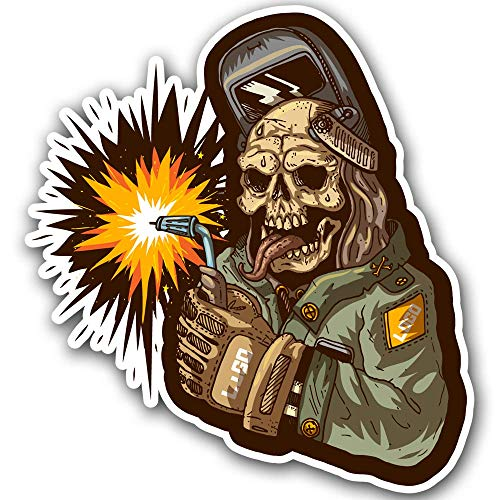 Zombie Welder Hard Hat Welding Helmet Sticker Decal Toolbox car window truck lunchbox