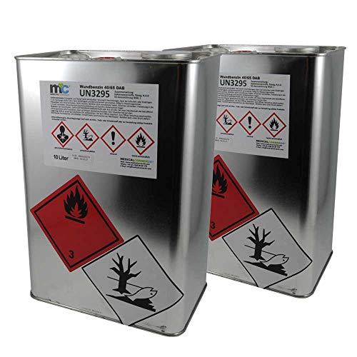 2x 10 Liter MC24® Wundbenzin 40/65 Lösungsmittel Reinigungsmittel Leichtbenzin