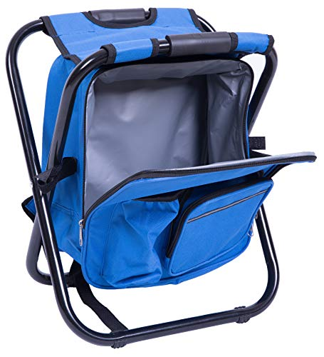 PLAYBERG QI003436.B Folding 3 in 1 Stool/Backpack/Cooler Bag (Blue)