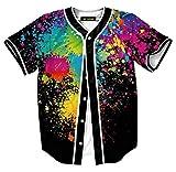 HOP FASHION Youth Mens Women Boys Girl Kids Baseball Jersey Short Sleeve Button Down Shirts 90s Theme Party 3D...