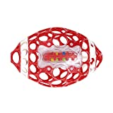 Bright Starts Oball Grab & Rattle Football Baby, Red/White