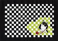 猫のポストカード/じゃれるネコ/25枚セット/切絵・貼り絵デザイン/Atelier TanTan