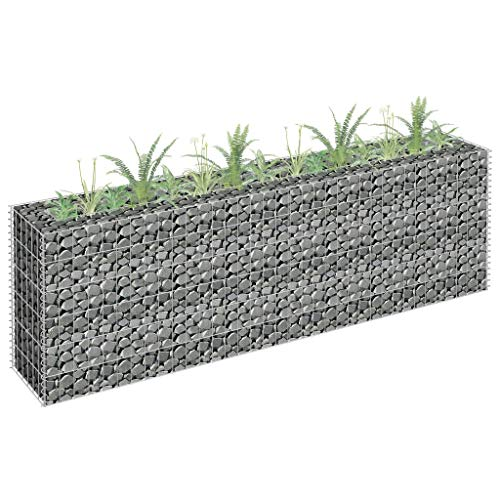 Buyounger Gabion Raised Bed Galvanised Steel 180x30x60 cm