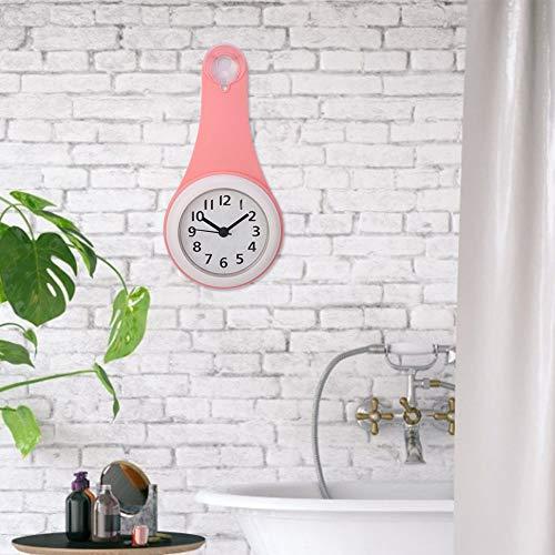 Wasserdichte Badezimmeruhr Digital, Badezimmeruhren Wanddekorative Badezimmeruhr, Kleine Badezimmeruhren Wanddekoration für Badezimmer, Küche, Schlafzimmer(red)