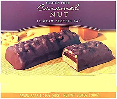 Healthwise - High Protein Diet Bar - Caramel Nut - 12g Protein- for Any Diet- Hunger Control and Appetite Suppressant - Low Calorie - Gluten Free and Vegetarian (7/Box)