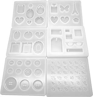 RAY CHILD レジン型 73種 やわらかい シリコン製 ボタン アルファベット ハート 宝石