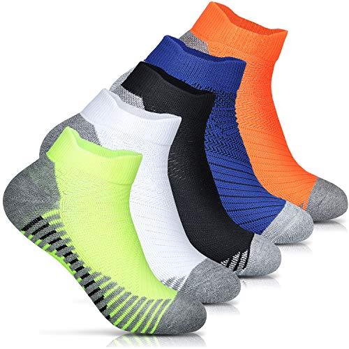 Ballot 靴下 メンズ スポーツソックス-ランニングソックス 5足組 (5色)