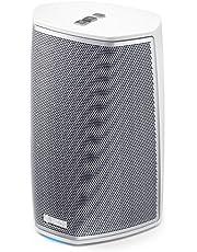 Denon Heos 1 HS2, Compacte Multiroom-Luidspreker, Wi-Fi en Bluetooth, App-besturing, AUX-in, Wit