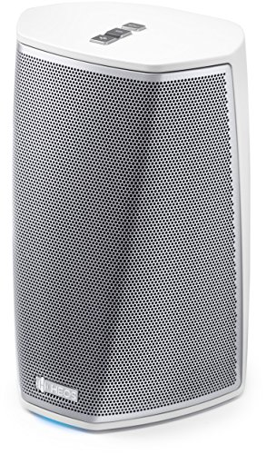 HEOS by Denon HEOS1HS2WTE2 Multiroom Audio Streaming versterker (High-Res Audio, Spotify Connect, Soundcloud, NAS, WLAN, USB, App-besturing, Aux-in, Bluetooth) wit Luidsprekers. wit