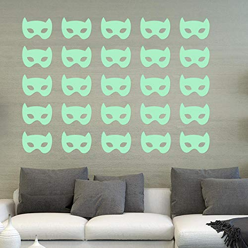 Batman Mask_Carving Batman Masker Leuke Cartoon Muursticker Fluorescerende Sticker Huisdecoratie 6.5 * 8.5 * 9