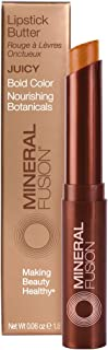 Mineral Fusion Lipstick Butter, Juicy, 0.06 Ounce (Packaging May Vary)