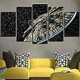 XLST Decoración de la Pared Imagen de Lienzo Star Wars Batman Poster 5 Piezas Art Home Enmarcado HD Impreso Lienzo de Pintura,B,30x40x2+30x60x2+30x80x1