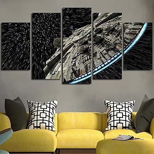LBXKE Décoration Murale Toile Image Star Wars Batman Affiche 5 Pièces Art Home Encadrée HD Peinture sur Toile,B,10x15x2+10x20x2+10x25x1