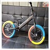 Rrunzfon Mi Primera Bicicleta Bicicleta Sin Pedales Apta para Niños Menores De 30 Kg Ajuste del Asiento Y del Manillar Cuerpo Ligero De Acero con Alto Contenido De Carbono-Kleur b  57 * 28 * 17cm