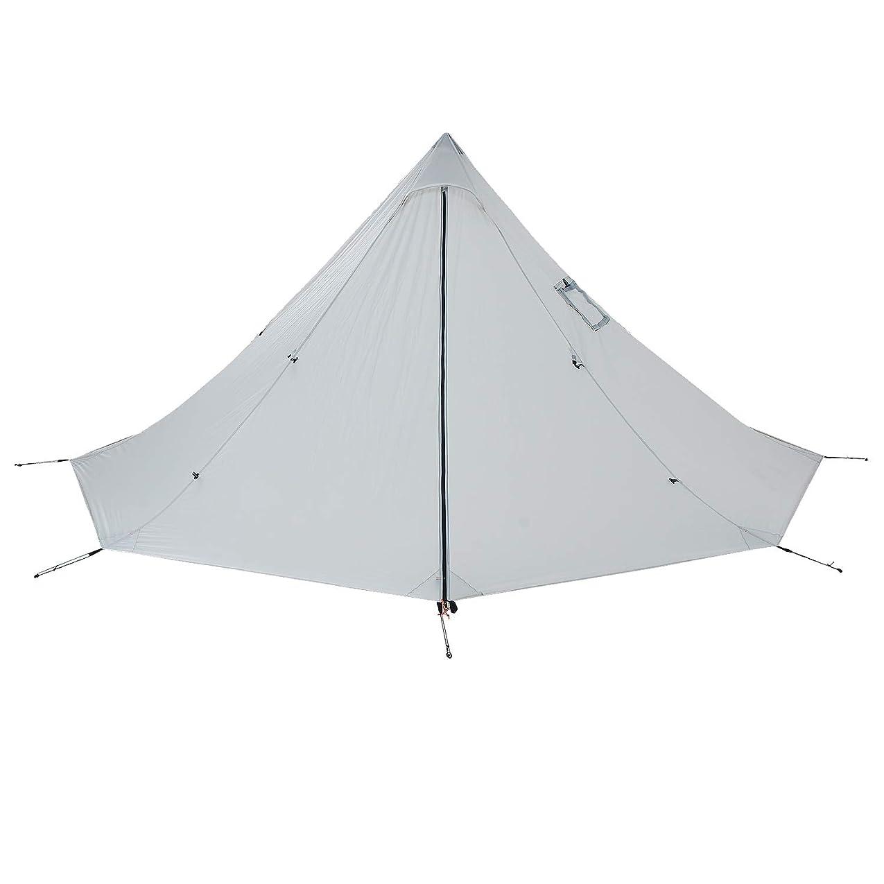 フルーツアンペアモディッシュBlack Orca ワンポールテント 軽量テント 2人用 簡単設営 防水 キャンプ用