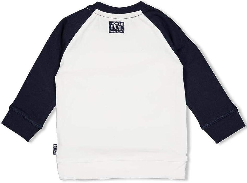 Feetje LA Shirt aus Bio BW in Navy//Wei/ß Maritim Cool Boy Print Team Icecream 1657