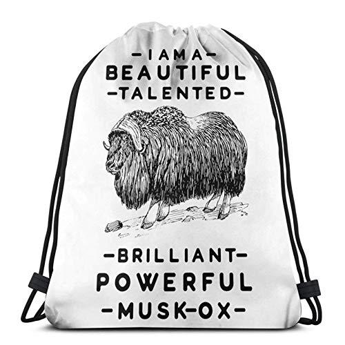 You A Beautiful Musk-Ox - Bolsas de cordón ligeras para gimnasio, deporte, bapa para viajes, playa, yoga