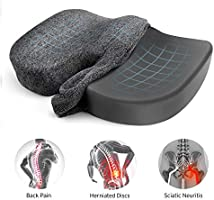 Etekcity Seat Cushion for Pressure Relief Office Chair Cushion 100% Memory Foam Non-Slip Coccyx Orthopedic for Tailbone...