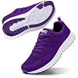 STQ Womens Sneakers Ultra Lightweight Breathable Mesh Athletic Walking Running Shoes Purple 8