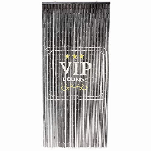 TACHILC VIP Lounge Bamboo Bead Curtain, Doorway Hanging Beads, Bamboo Door Beads 35.5 inches x 78 inches, 90 Strands