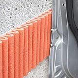 Parachoques de mondaplen (wall bumper): espuma autoadhesiva de protección en bandas para el acolchado de cualquier superficie en tu casa u oficina.Se utiliza principalmente en las paredes de los garajes, para proteger las puertas de los coches.Cada paquete contiene dos bandas de 1,5m x 20cm (color: negro, color: naranja.)