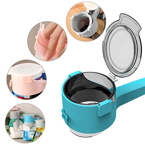 4 pezzi di clip per sacchetti per alimenti, conservazione di alimenti per clip di tenuta con beccucci per versare, clip per sacchetti di trucioli da cucina, clip di chiusura per tappi in plastica