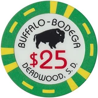 Casino Chip (1) Buffalo-Bodega $25 Deadwood South Dakota Bud Jones Co.