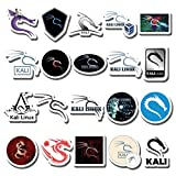 20 PCS Stickers Pack Kali Aesthetic Linux Vinyl Colorful Waterproof for Water Bottle Laptop Scrapbooking Luggage Guitar Skateboard